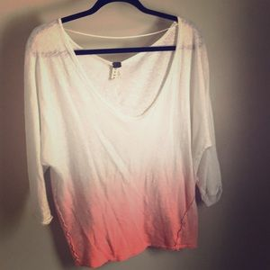 We The Free 3/4 sleeve off the shoulder top Med.
